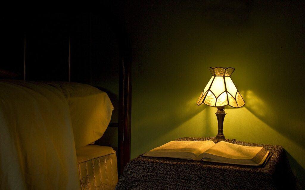 mood lighting in bedroom